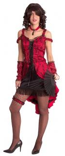Can Can Kostüm Damen Tänzerin Burlesque Saloongirl Cabaret Fasching Karneval KK