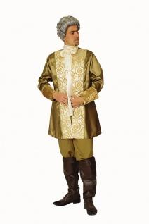 Renaissance Kostüm Herren Rokoko Baron Edelmann Mittelalter gold FAsching KK