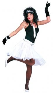 Petticoat Damen Tüllrock Unterrock Tütü Knielang 59 cm. weiß Karneval Fasching K
