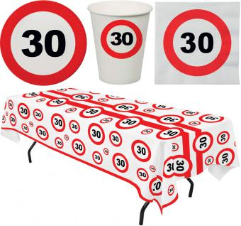 Party Set 33 Teile Geburtstag 30 Jahre Verkehrsschild