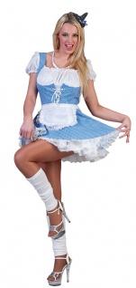 Oktoberfest Dirndl Kostüm Katie blau-weiß Trachtenkleid Dirndl Damenkostüm KK