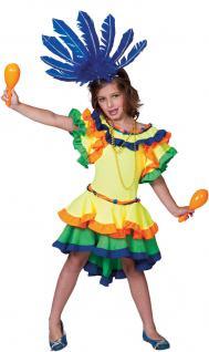 Samba Kostüm Kleid Brasilianerin Kostüm Mädchen Karneval Rio Kinder-Kostüm KK
