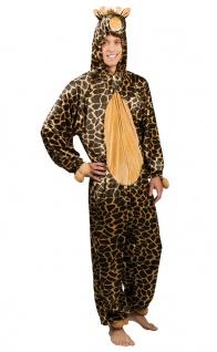 Giraffe Kostüm Herren Plüsch Overall mit Kapuze Tierkostüm Fasching Karneval KK