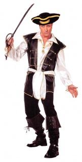 Piratenkostüm Herren Freibeuter Seeräuber Pirat Kapitän Herrenkostüm Karneval KK