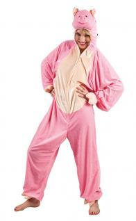 Schwein-Kostüm Damen Plüsch Schwein-Overall Tier Schweinchen Damen-Kostüm KK