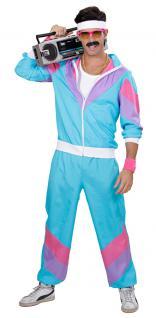 80-er Jahre Kleidung Herren-Kostüm New Kids Assi Proll Joggingjacke Jogginghose