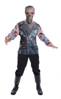 Zombie Kostüm Motorradfahrer Horror Kostüm Biker Maske Halloween Herren-kostüm K