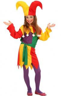 Clown Kostüm Kinder Mädchen bunt Clownkostüm Narren Kinderkostüm Fasching KK