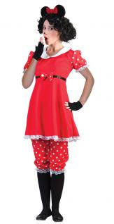 Minnie Mouse Kostüm Damen Minnie Maus Kleid Karneval Damen-Kostüm KK