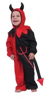 Teufel Kostüm Baby Kleinkind rot schwarz Overall Dämon Halloweenkostüm KK