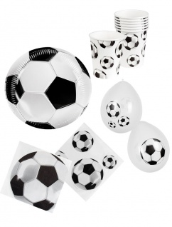 Party Set Fußball Deutschland Fan-Set WM 2018 Party 24 Teile mit Luftballons KK