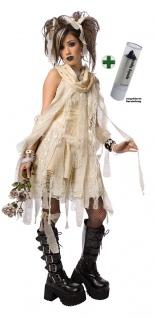 Mumie Kostüm Damen Gothic Halloween-Kostüm mit Lippenstift KK
