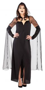 Karneval Klamotten Kostüm Dame Skeletthand Gothic Halloween Dame Karneval Horror