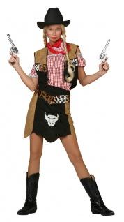 Cowboy Kostüm Damen sexy Cowgirl Rock Weste ohne Hemd Wilder Westen Fasching KK