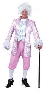 Karneval Klamotten Kostüm Rokoko Herr rosa Karneval Renaissance Herrenkostüm
