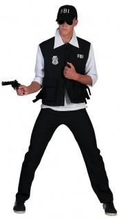 Polizist Kostüm Herren FBI Agent Cop Polizei Herrenkostüm Karneval Fasching KK
