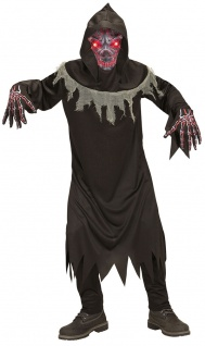 Sensenmann Kostüm Kinder leuchtenden Augen Der Tod Grim Reaper Halloween KK