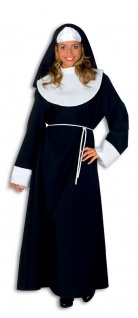 Nonnenkostüm Damen Kopfbedeckung Nonne-Kostüm Haube Damenkostüm Karneval KK