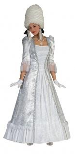 Renaissance Kostüm Damen Viktorianisches Kleid Rokoko Barocksilber lang Fasching