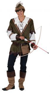 Kostüm Robin Hood Räuber Mittelalter König der Diebe Bogenschütze Herrenkostüm K