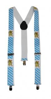 Hosenträger Oktoberfest Bayern blau weiß Karneval Oktoberfest Herren Hosenträger