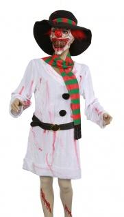 blutiges Zombie Kostüm Damen Horror Schneemann Blut Halloween Fasching KK