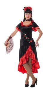 Spanierin Kostüm Damen Spanien Flamenco Tänzerin Kleid Fasching Karneval KK