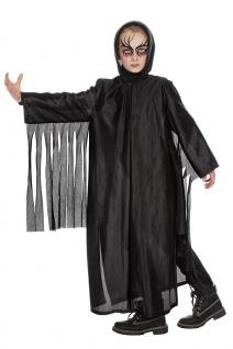 Horror Geist Kostüm Kinder schwarz Sensenmann Halloweenkostüm Faching KK