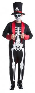 Tag der Toten Kostüm Herren Day of the dead Dia de los Muertos Halloween KK