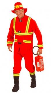 Feuerwehrmann Kostüm Feuerwehr Uniform rot Herrenkostüm Karneval Fasching KK