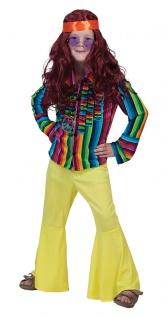 Hippie Hemd Kinder 60er Jahre Flower Power Kinder-Kostüm Karneval Fasching KK