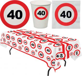Party Set 33 Teile Geburtstag 40 Jahre Verkehrsschild