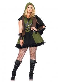 Kostüm Robin Hood Dame Plus Size Damen-Kostüm Karneval Fasching Mittelalter KK