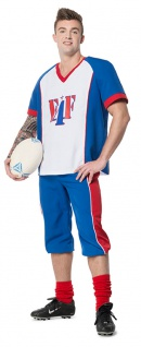 American Football Rugby Kostüm Herren Quarterback USA Herrenkostüm Karneval KK