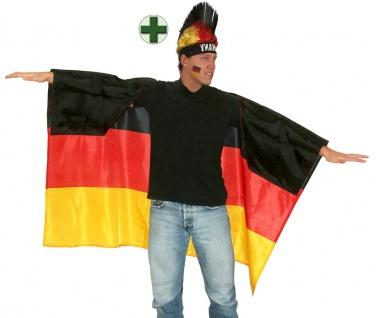 Fußball Fan-Artikel: Perücke Punker Deutschland Germany Umhang EM WM Herren 2021