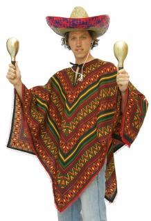 Poncho Mexikaner Mexiko Herren Kostüm Karneval Fasching KK