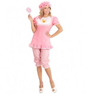 Baby Kostüm Erwachsenen Damen rosa Girl Riesenbaby Kostüm Karneval Fasching KK