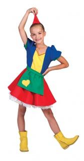 Zwerg Kostüm Mädchen mit Zwergen-Hut Zwergen-Mütze Mädchen-Kostüm KK