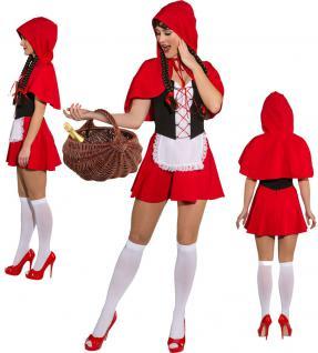 Karneval Klamotten Kostüm sexy Rotkäppchen Dame Karneval Märchen Damenkostüm