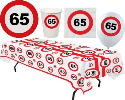 Party Set XL 45 Teile Geburtstag 65 Jahre Verkehrsschild