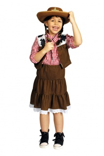 Cowgirl Kostüm Wilder Westen Süßes Wild West Cowboy Mädchenkostüm Karneval KK