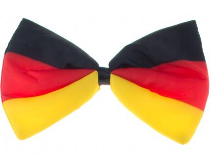 Fliege Deutschland Deutsch Fan-Artikel Fußball schwarz rot gold EM WM 2021