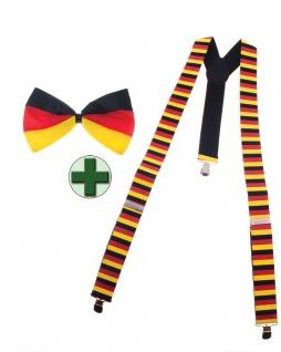 Hosenträger Deutschland Fliege Deutschland Deutsch Fan-Artikel Fußball WM KK - Vorschau