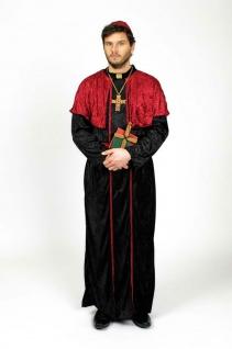Kardinal Kostüm Herren Bischof Priester Herrenkostüm Karneval Fasching KK