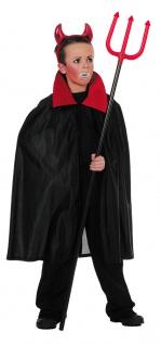Vampir Kostüm Kinder Dracula Umhang Halloween schwarz rot Karneval Fasching KK