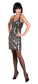 Karneval Klamotten Kostüm Charleston kleid Zebra Charleston 20er Damenkostüm