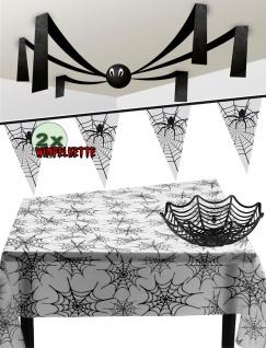 Grusel Party Halloween Deko Set Spinnen-Netz KK