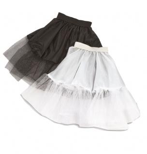Petticoat Tüllrock Kinder Petticoat Unterrock Tütü kurz schwarz Länge 45 cm KK
