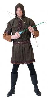 Robin Hood Kostüm König der Diebe mit Kapuze Mittelalter Bogenschütze Fasching K