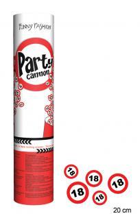 Konfetti Kanone Party Shooter Verkehrszeichen 18 Jahre (2 Stück)